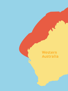 Graphic : Location Map of Flatback Turtles in Western Australia