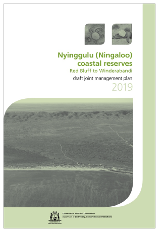 Nyinggulu coastal reserves draft joint management plan cover