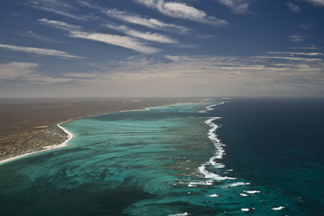 Ningaloo aerial photo Cam Skirving