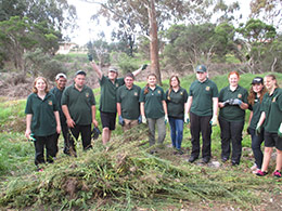 Albany Education Support Centre  weeding at Yakamia Creek