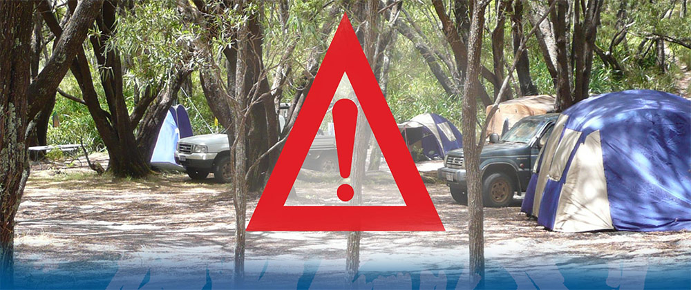 Graphic depicting park and campground closures