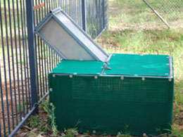 Cane toad drop off cage