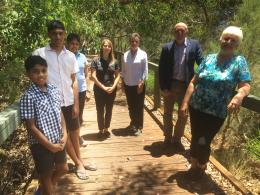 Environment Minister Stephen Dawson with grant recipients from the Bannister Creek Catchment Group