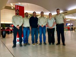 The six Parks and Wildlife staff heading to the USA. Photo- DBCA