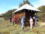 Samphire Cove volunteers repainting a structure at the nature reserve